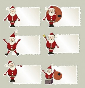 Free Vector Christmas Stickers