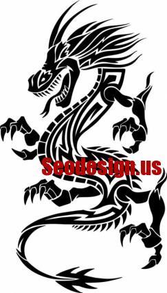 Dragon Shaped Vector Art Patterns