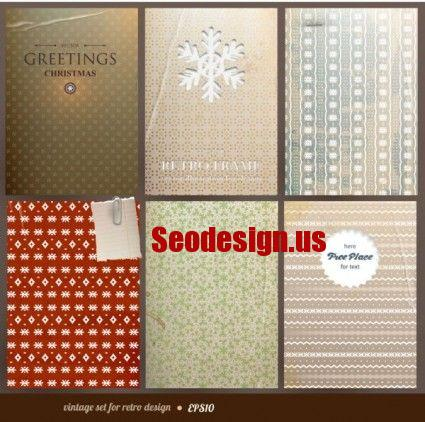 Free Retro Backgrounds Vector Textures