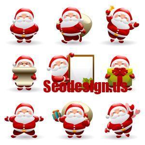 Santa Claus Christmas Silhouettes