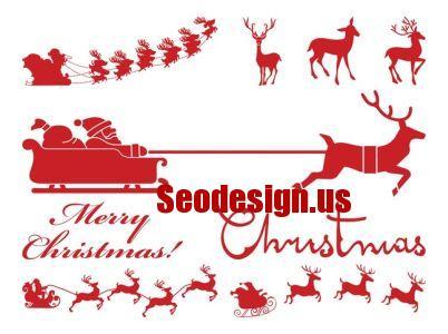 Free Christmas Silhouettes