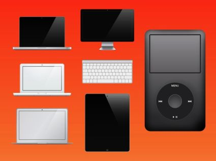 14 Apple Devices Vector Icons