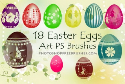 18 Easter Egg Photoshop Brushes