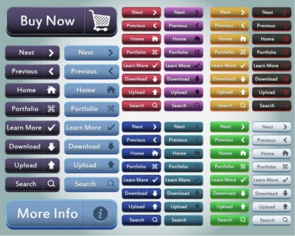 80 Excellent Glossy Web Buttons