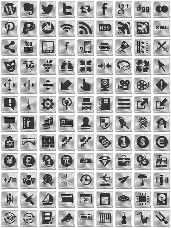 200+ Silver Web Icons