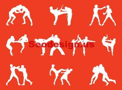 30+ Fighting People Silhouettes