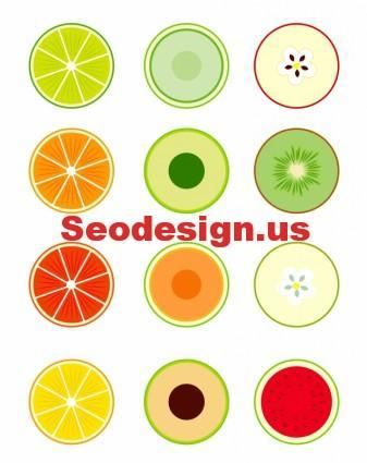 40+ Fruits Vector Icons Set