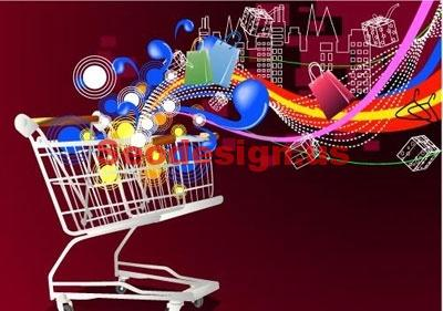 Shopping Cart Vector Background