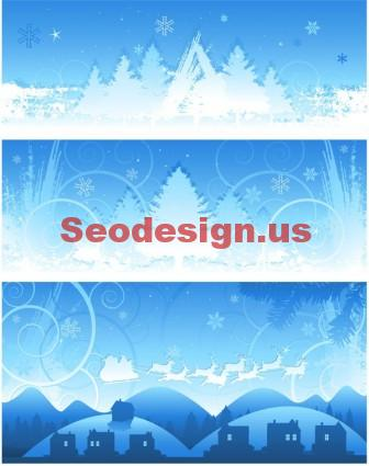 Snow Vector Backgrounds