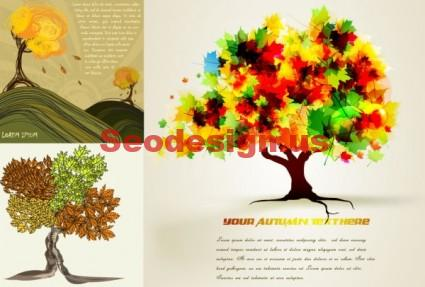 Cartoon Vector Tree Backgrounds