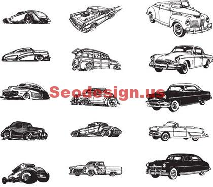 Cars Vector Silhouettes Free Download