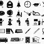 20+ Education Photoshop Icons Set
