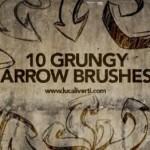 15+ Grunge Arrow Brushes