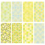8 Green Yellow Vector Backgrounds