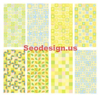 Green Yellow Vector Backgrounds