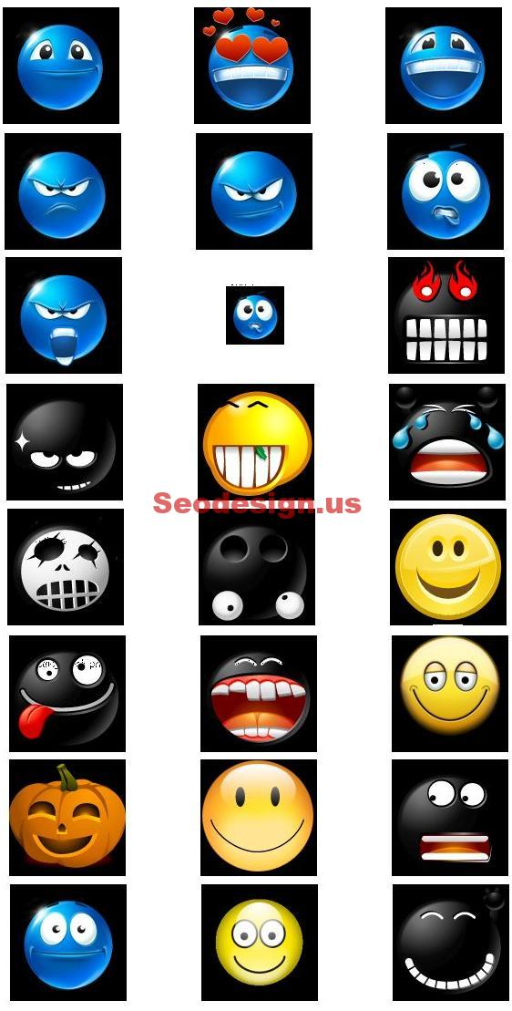 Emotions Smiles Icons Set