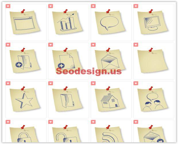 Free Sketchy Hand Drawing Icon Set Download