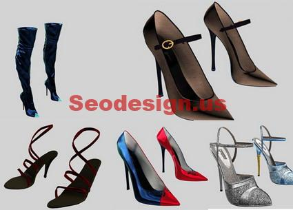 Free 3D Ladies Shoes