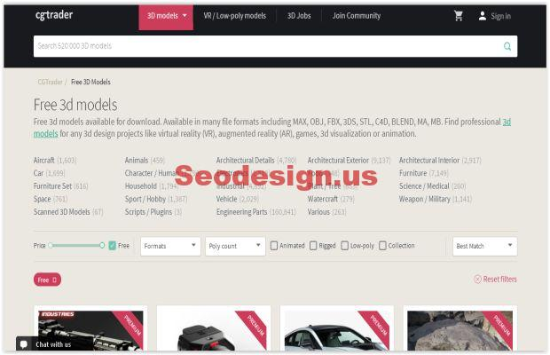 20 Best Free 3D Models Websites