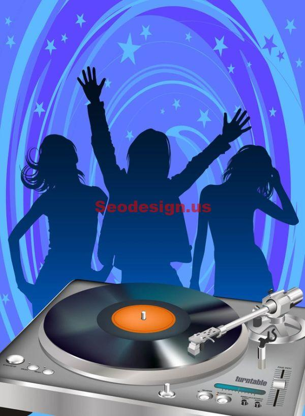 Dance People Vector Silhouettes