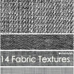 14 Black White Fabric Textures