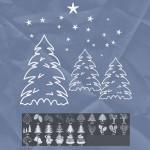 26 Christmas Tree Brushes