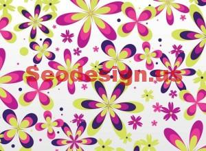 Seamless Flowers Vector Background