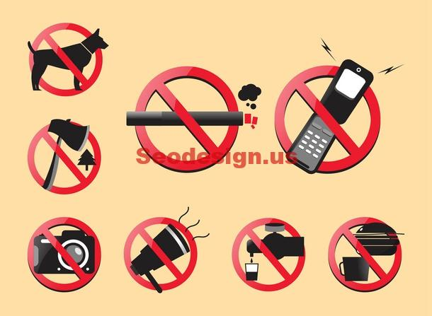 Vector Prohibited Sign Download
