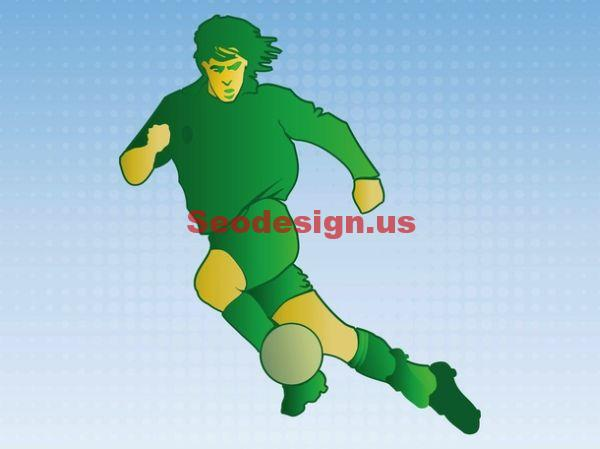 Soccer Player Vector Illustration