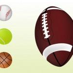 4 Sport Balls Clip Art Graphics