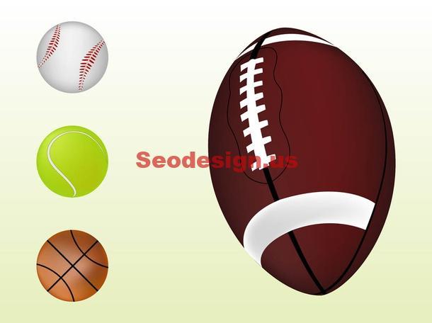 Sport Balls Clip Art Graphics