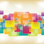 3 Abstract Squares Vector Backgrounds
