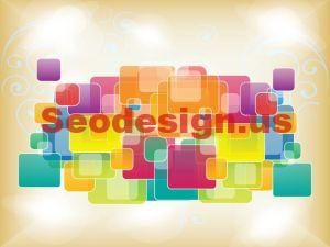Abstract Squares Vector Backgrounds