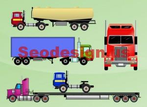 Colored Vector Trucks Graphics
