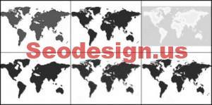 World Map Photoshop Brushes