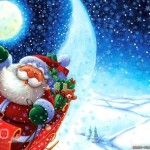 30 Abstract Cartoon Christmas Wallpapers