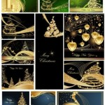 20 Grunge Christmas Vector Backgrounds