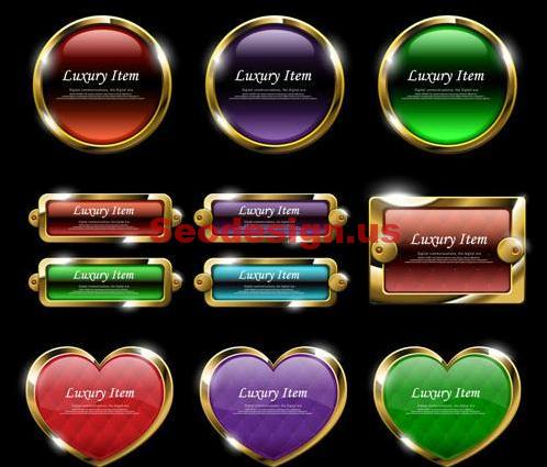 Gold Web Buttons Download