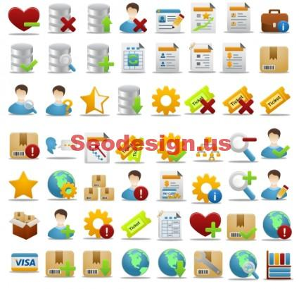 Business Office Icons Set