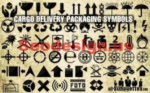 Vector Packaging Symbols Icons