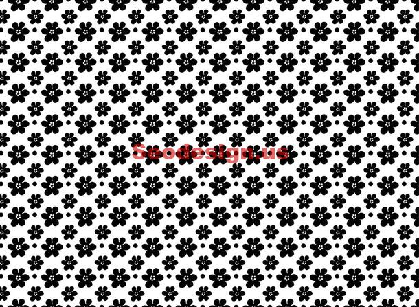 Black White Floral Patterns
