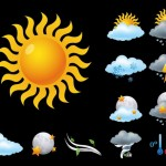 11 Vector Weather Icons Set
