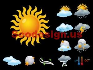 Free Vector Weather Icons Set