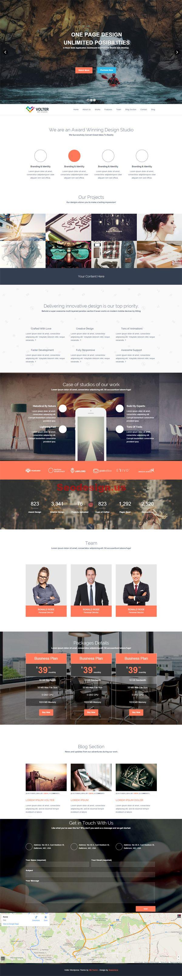 Volter Responsive One Page WordPress Theme
