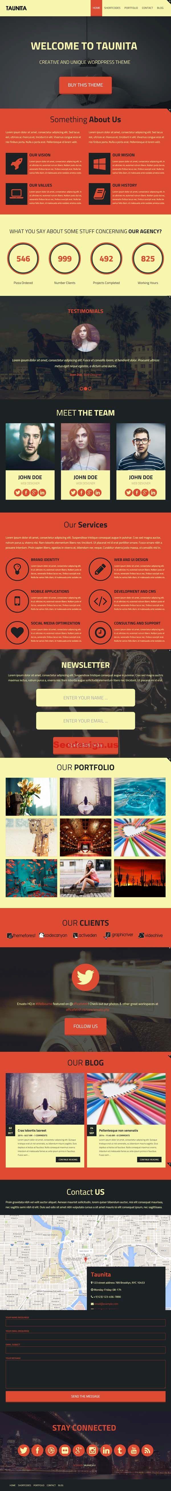 Taunita – Responsive Multi-Purpose WordPress Theme