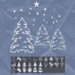 26 Christmas Tree Photoshop Brushes