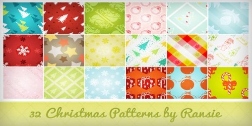 Christmas Photoshop Patterns Free Download
