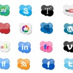 24 Shaped Cloud Social Icons
