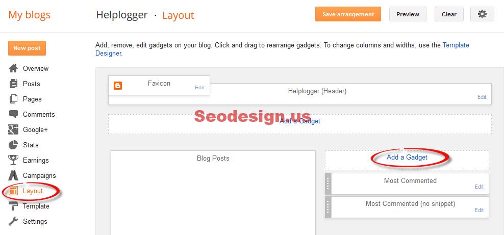 Add Instagram Widget For Blogger