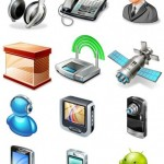 50+ Networking Mobile Icons Set